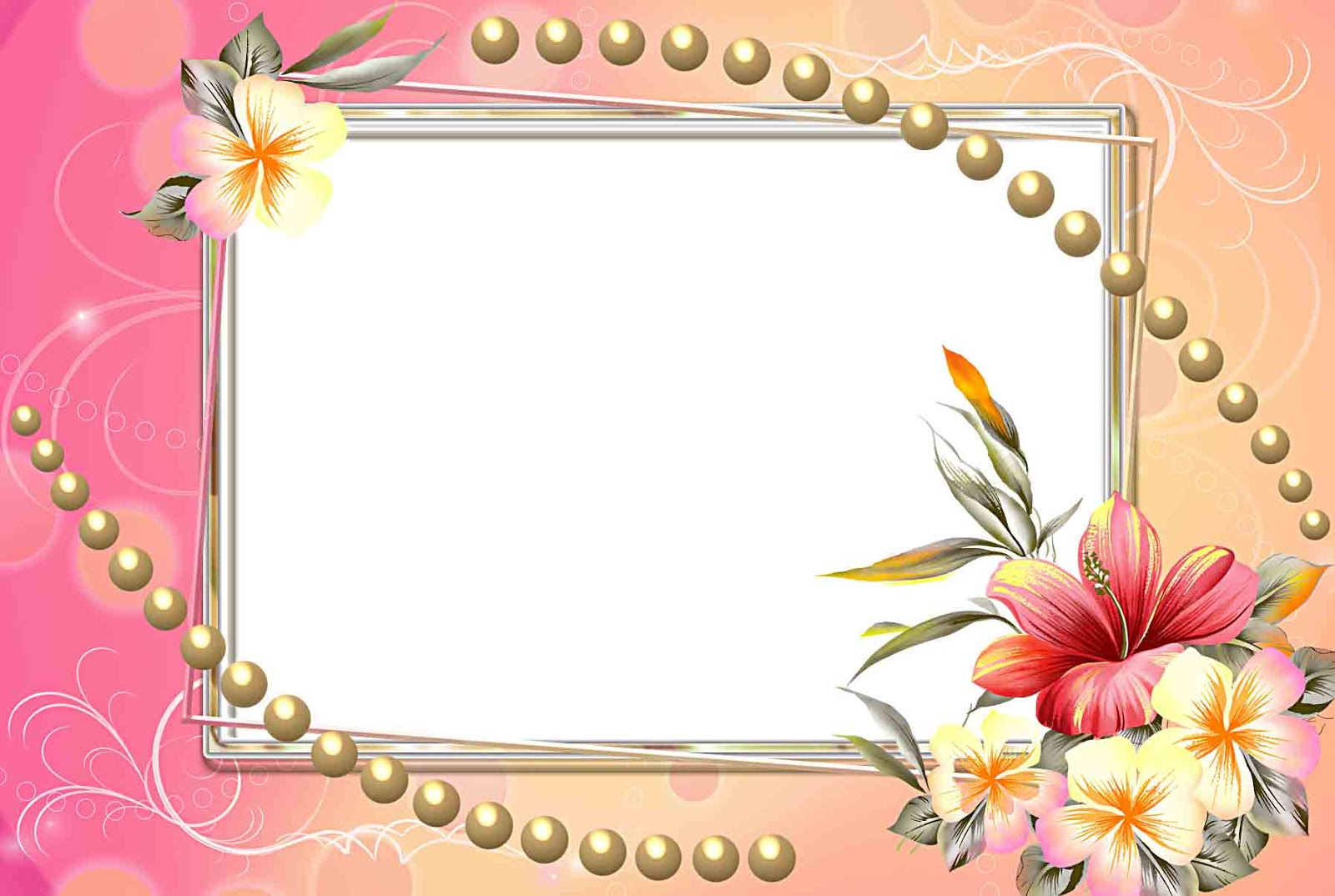 download flowers frame png free
