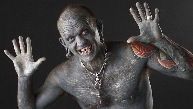 Lucky Diamond Rich pria dengan tatto terbanyak-1