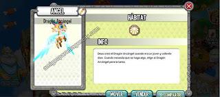 imagen de la informacion del dragon arcangel de dragon city