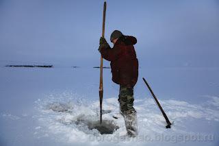 Установка юнды. Остров Вайгач. Ненецкий автономный округ. Природа НАО.