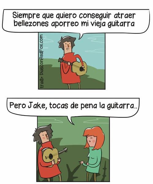 imagenes graciosas - ligar tocando la guitarra