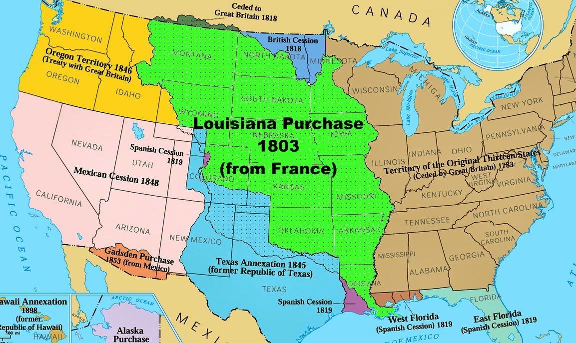 11 april 1803 a d france offers to sell louisiana territory to the us for 11 250 million napoleon the sale assures forever the power of the united