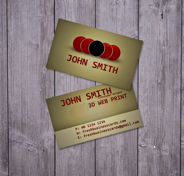 Brown Business Card PSD Template