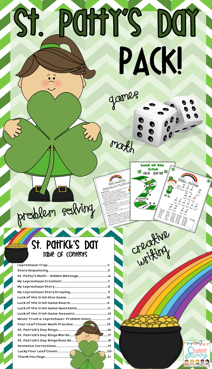 https://www.teacherspayteachers.com/Product/St-Patricks-Day-Common-Core-Aligned-1131837
