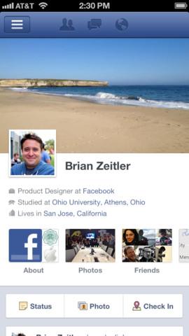 Facebook 5.0 iOS App