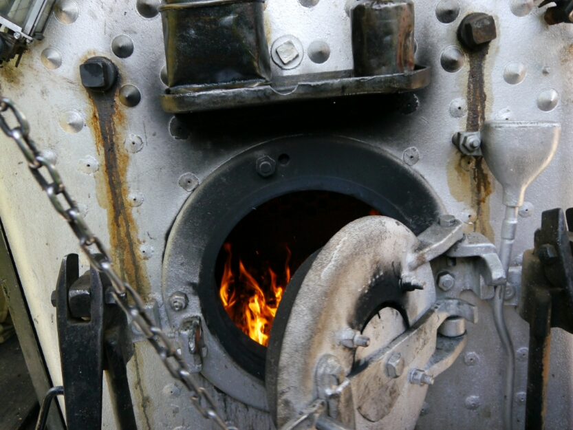 inside the firebox