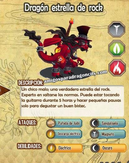 imagen de las caracteristicas del dragon estrella de rock