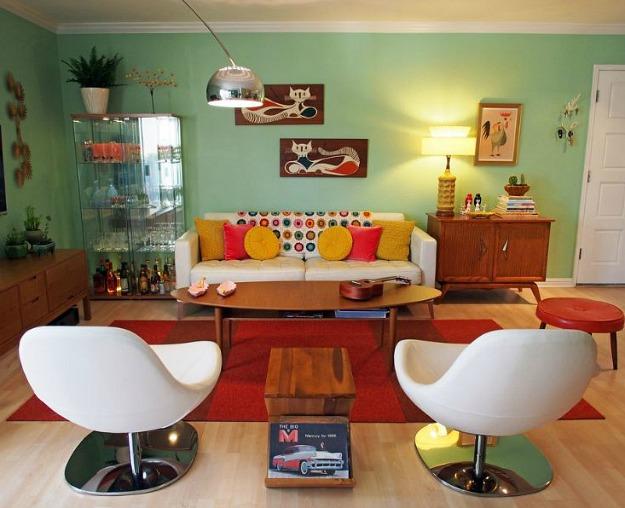 Casa de ideias e decora o antes e depois de uma sala for Decoracion casa anos 70