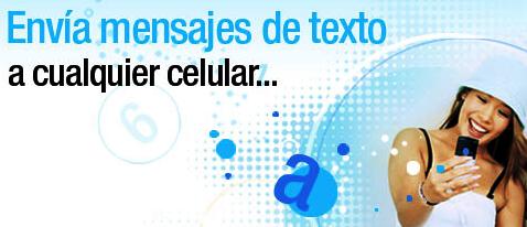 Envía desde aquí tus mensajes de texto a cualquier celular de Telefónica Movistar, Claro y equipos