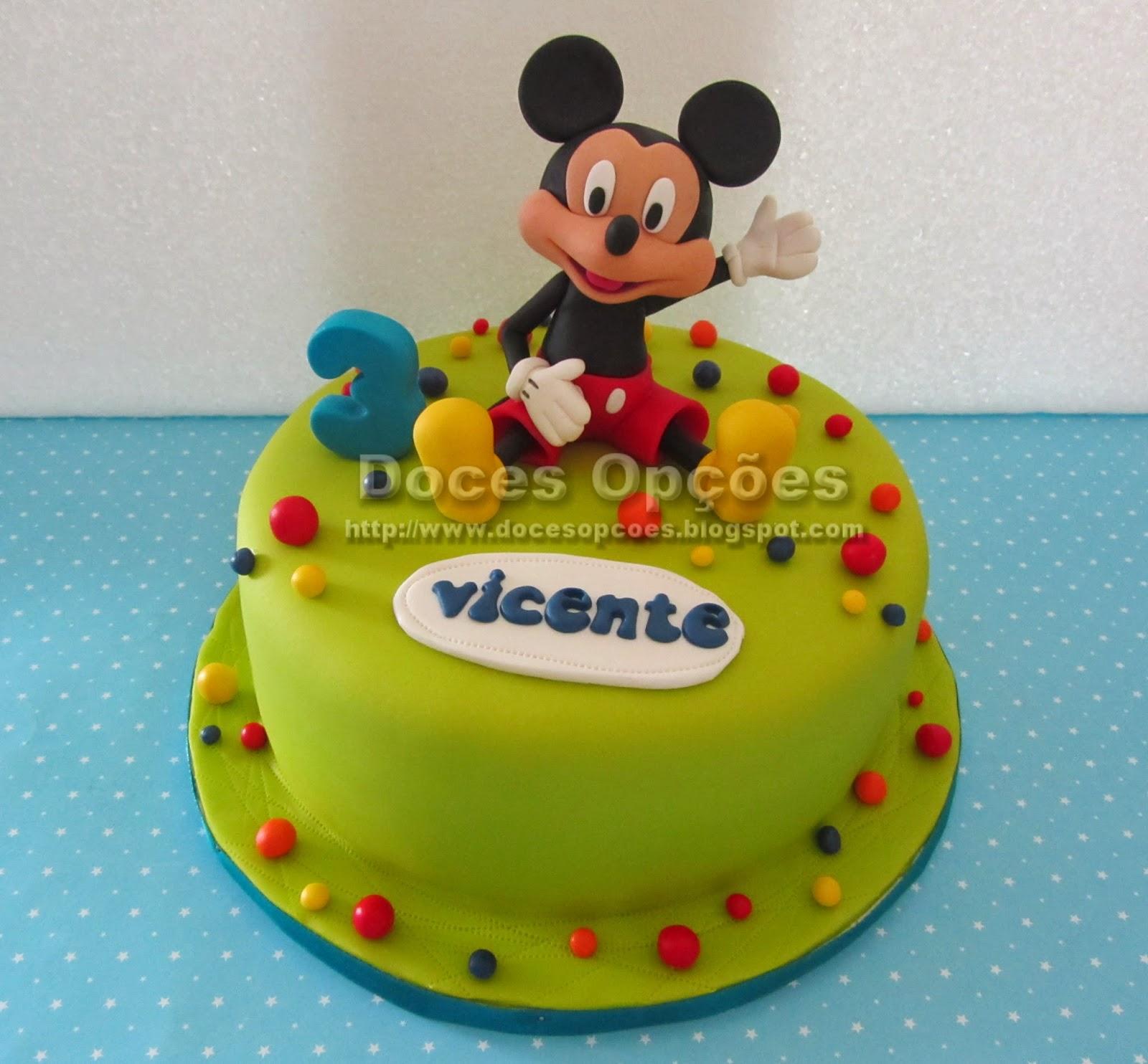 O Mickey no 3º aniversário do Vicente