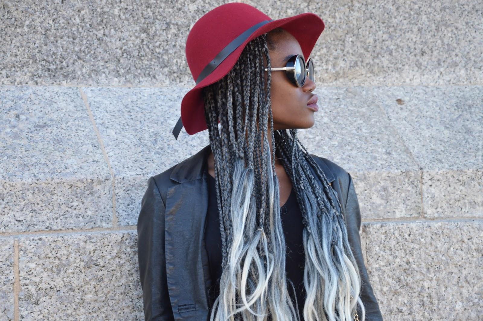 Blog mode afro, blog mode marseille, look, tresses, cheveux gris, idée coiffure afro