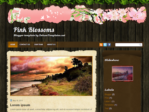 Pink Blossoms Blogger Theme