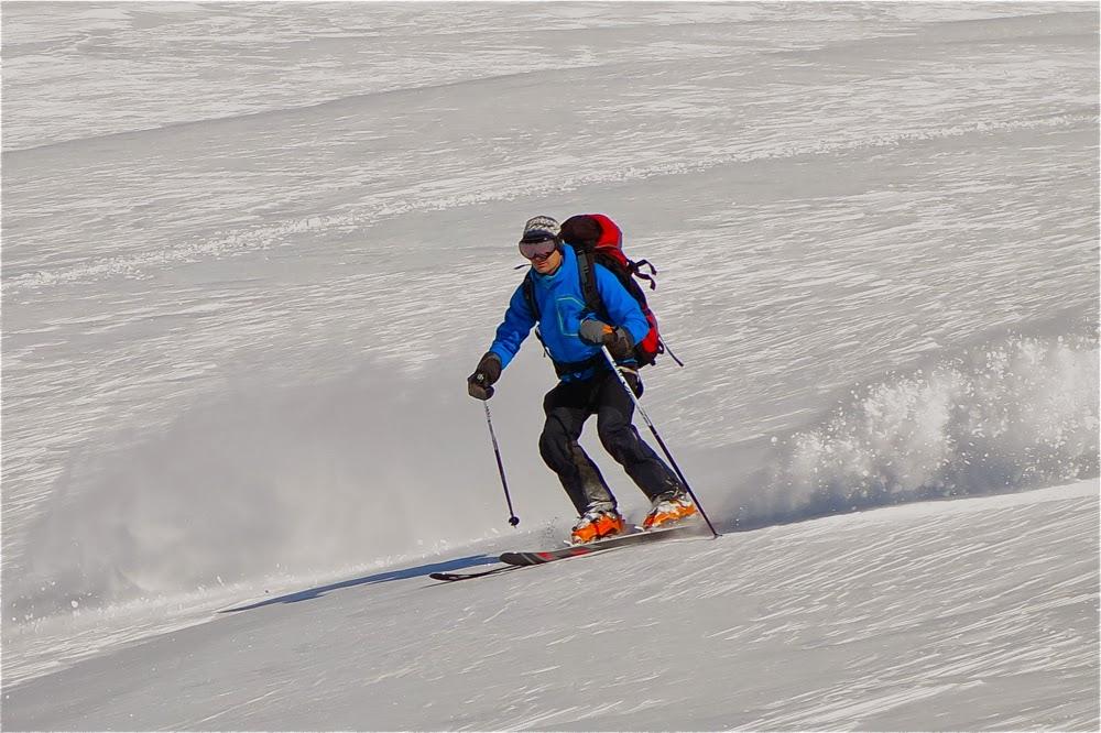 Ski, Glacier des Grands Couloirs.