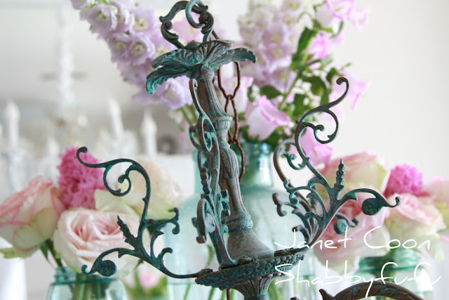 vintage chandelier with great patina