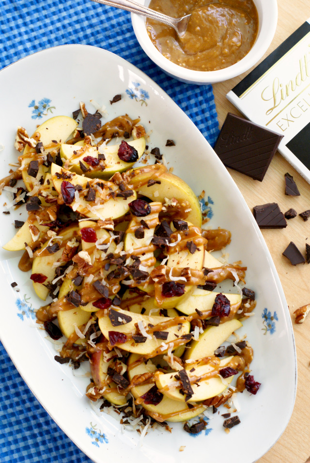 Apple Nachos are a healthy fall-inspired treat!