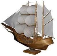 Kerajinan bambu - miniatur perahu layar bambu