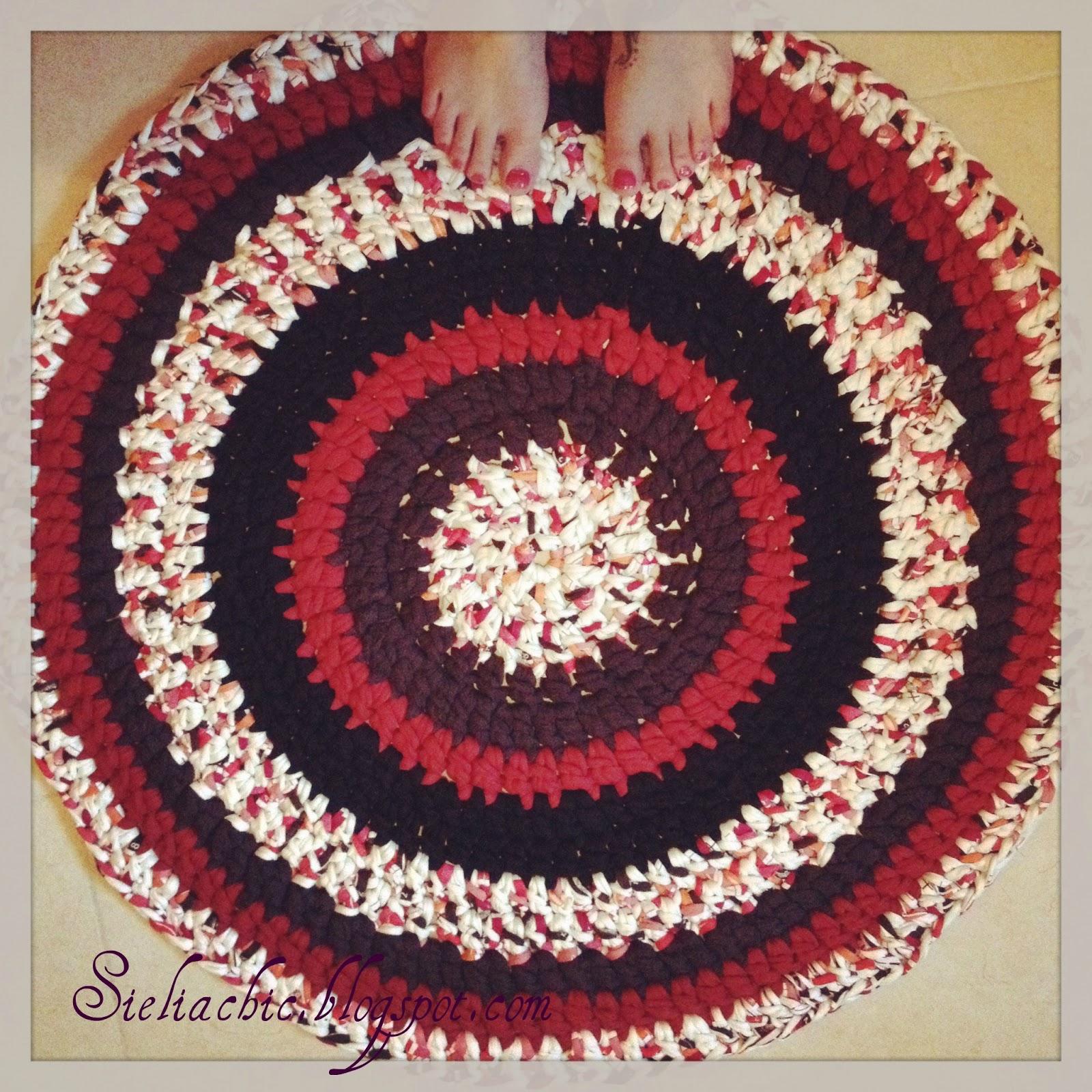 Sielia alfombra de trapillo - Alfombras redondas ...