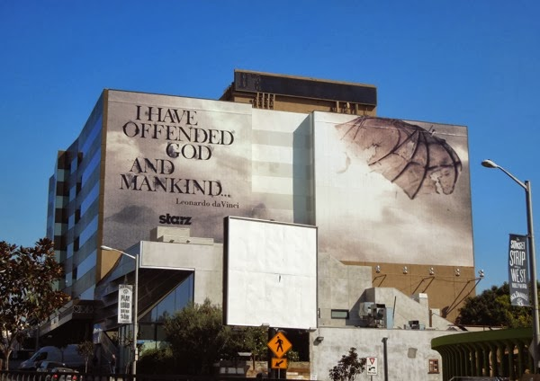 Da Vinci's Demons 2 I have offended god and mankind billboard