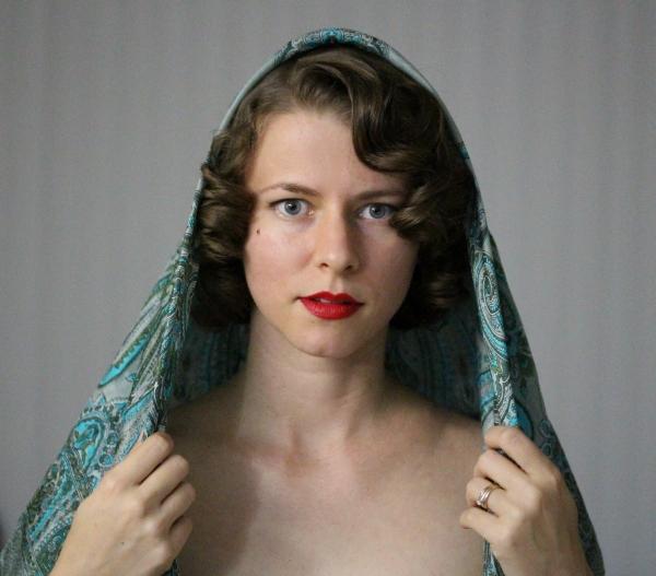 Hair Scarf Tutorial #vintage #hairstyle #scarf #hair