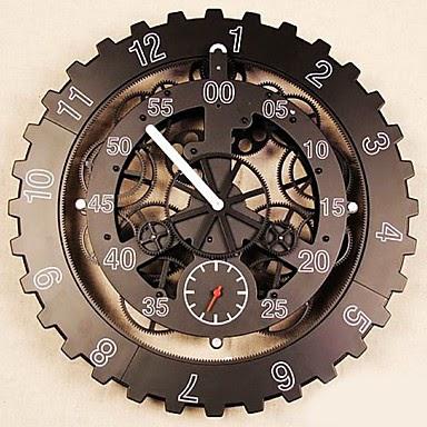 Reloj de pared engranajes relojes de pared - Relojes de pared diseno ...