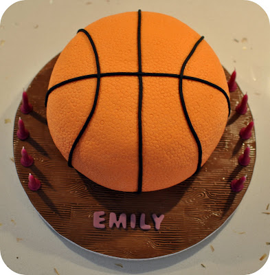 Basketball Cake Made Out Of Cupcakes