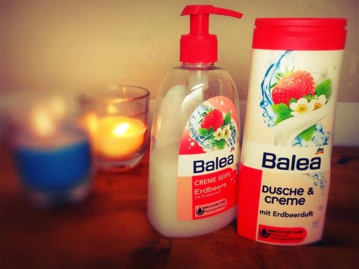 Balea Seife und Duschgel Erdbeere