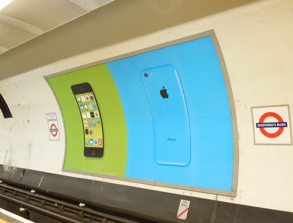 London tube iPhone 5c poster