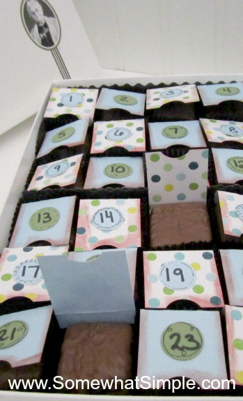 Diy Chocolate Advent Calendar : Be different act normal diy chocolate advent calendar