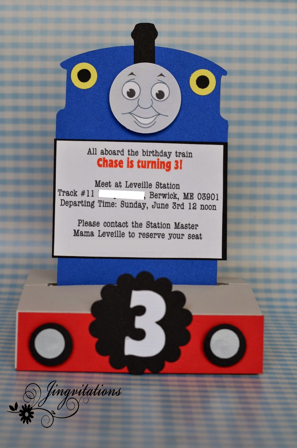 Make Your Own Thomas The Train Invitations as great invitations example