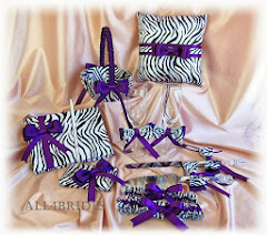 Zebra wedding ensemble, custom colors