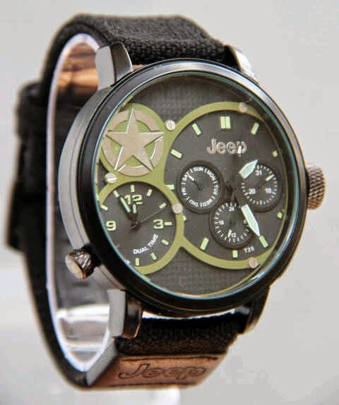Jeep Kanvas Dual Time hitam