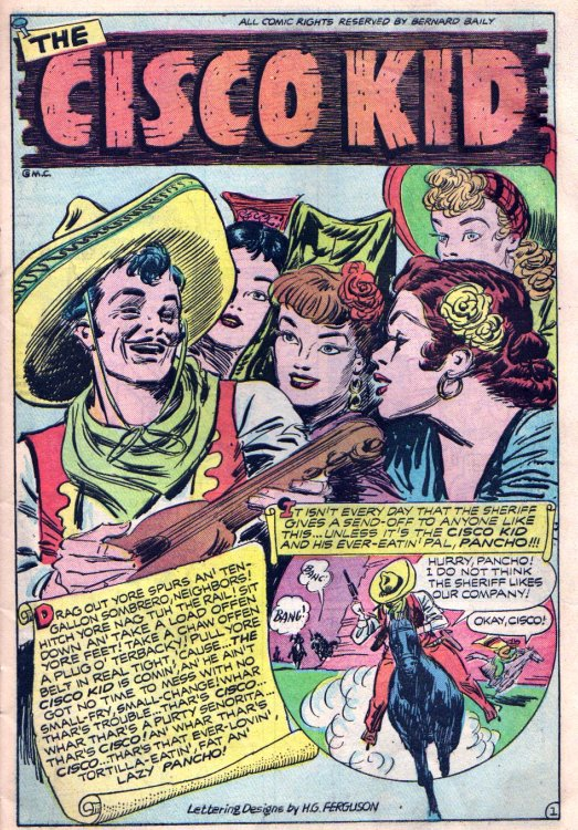 In The First And Only Issue Of This 1944 Title Published By Noted Comics Artist Bernard Baily Cisco Pancho