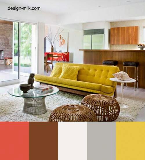Sala de estar y su paleta de colores