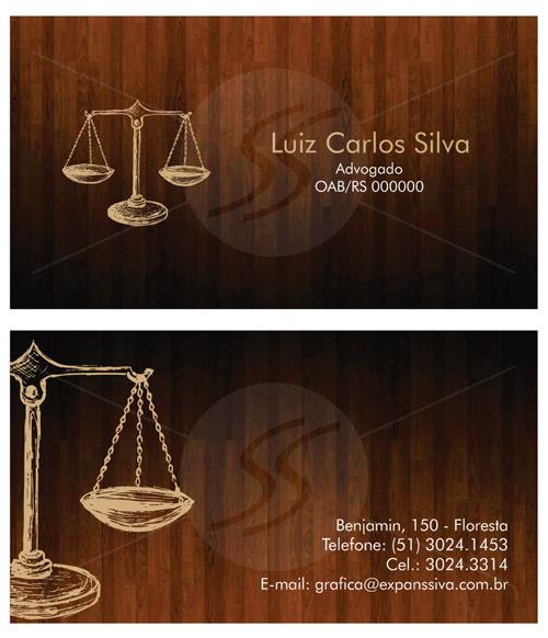 Muitas vezes Cartão de Visitas para Advogados. 50 Modelos Incríveis. - Blog  JS01