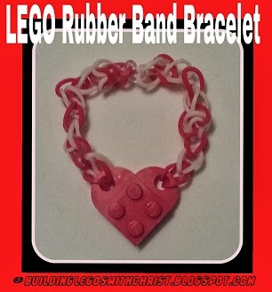 Lego Rainbow Loom Rubber Band Bracelet
