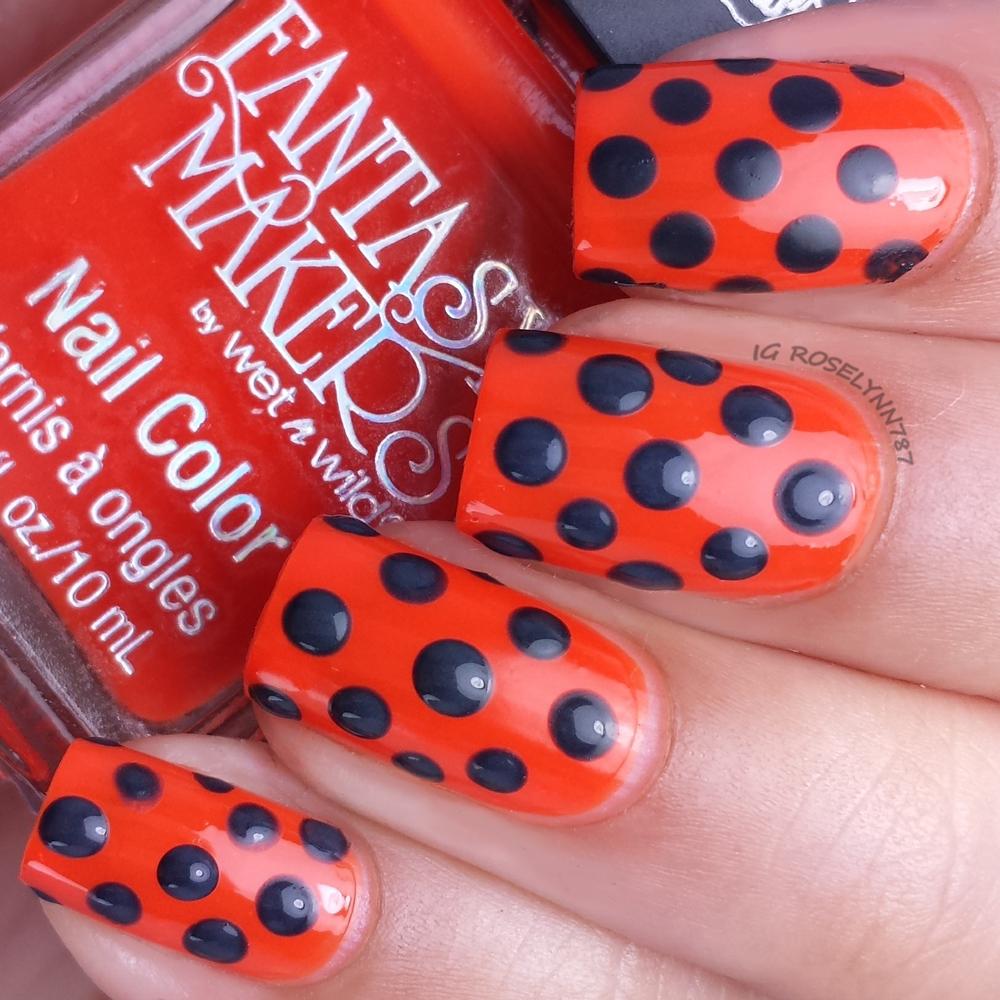 Challenge Your Nail Art October - Orange & Black - Manicured & Marvelous