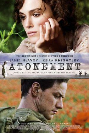 Movie book cover of Atonement by Ian McEwan