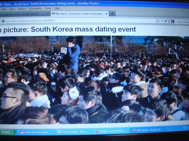 speed dating korean