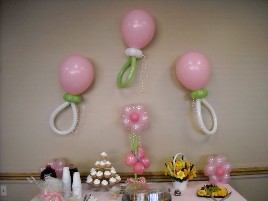 Decorar un baby shower con globos casasdecoracion.blogspot.com