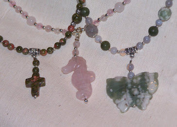 Three Natural Stone Necklaces