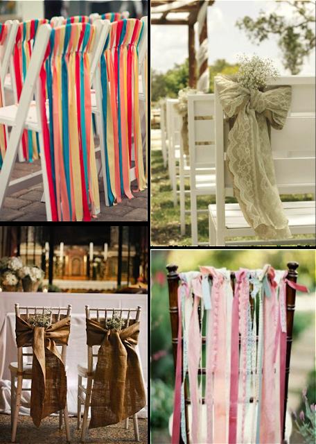 Sillas para boda decoradas con telas