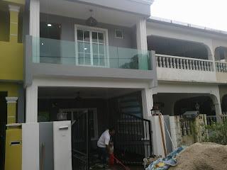 gambar depan rumah on ... BAHAGIAN DEPAN DAN ATAS RUMAH TERES 2 TINGKAT DI BATU 3,SHAH ALAM