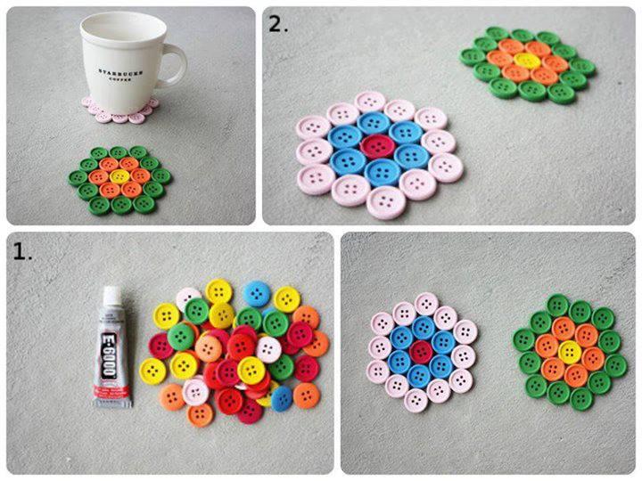 Manualidades con tokio hotel minitutorial porta vasos con botones - Manualidades para decorar el hogar ...