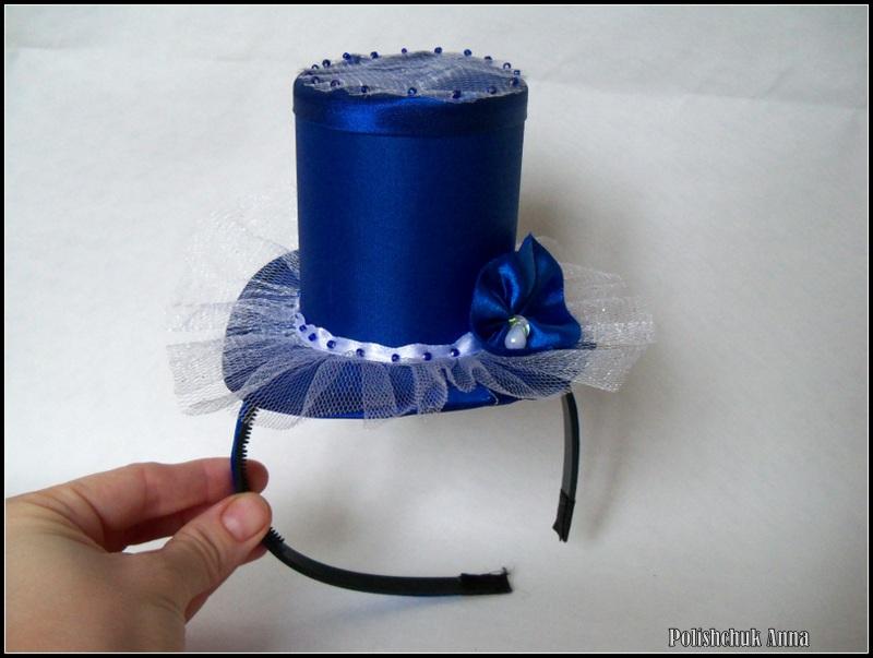 Шляпка цилиндр своими руками мастер класс