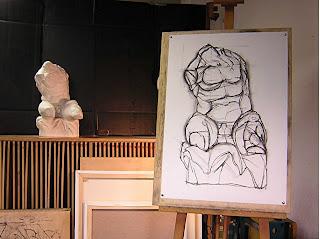 Explicación paso a paso de como se dibuja con carboncillo un claroscuro realizada por la academia de dibujo y pintura Artistas6 de Madrid