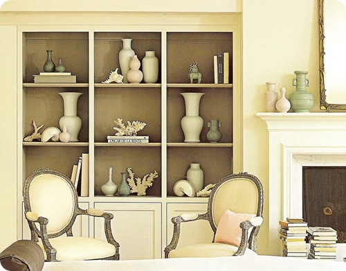 rough luxe: Bookcase Styling Ideas for the Transitional Home