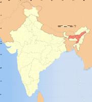 Assam map, asom map