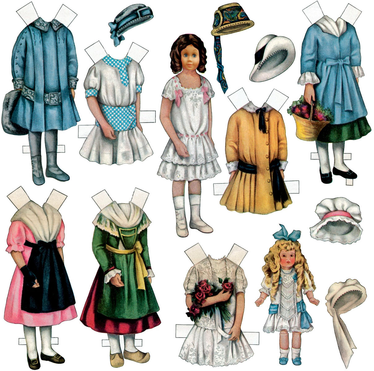 Old fashioned paper dolls 50