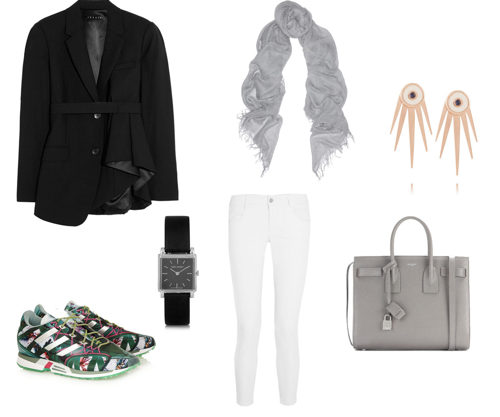 wishlist, theory, adidas, mary katrantzou, stella mccartney, isabel marant, net à porter, fashion blogger, outfit, saint laurent