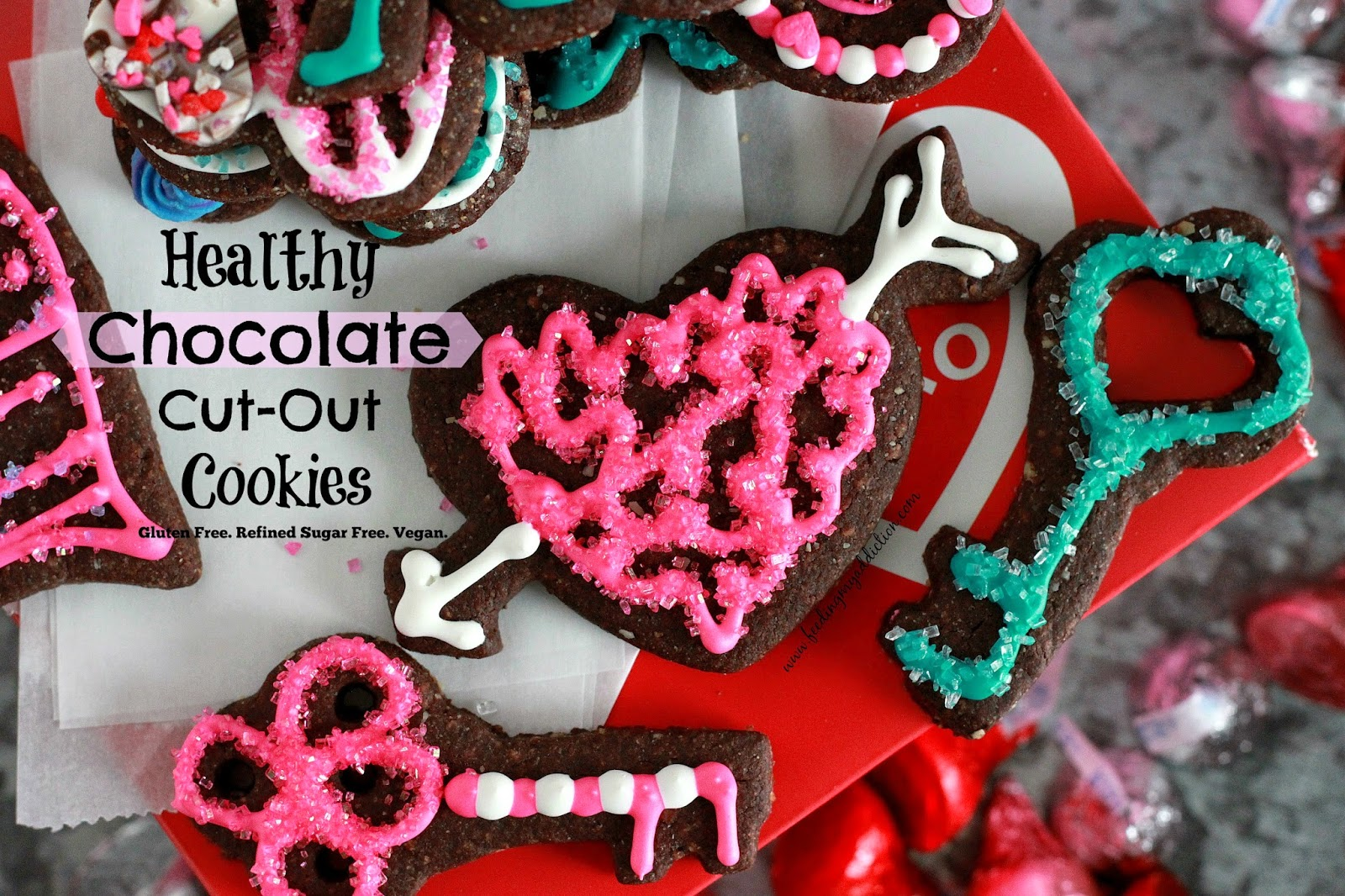 Feeding My Addiction Healthy Chocolate Cut Out Cookies